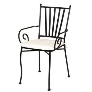 Chaise fer forge achat vente pas cher - Chaise en fer forge pour jardin ...
