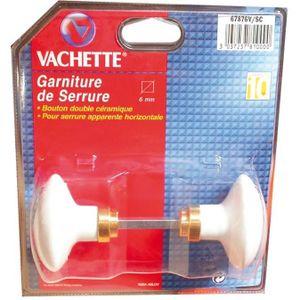 SERRURE - BARILLET Bouton double céramique - 6 mm