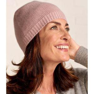 BONNET - CAGOULE WoolOvers Bonnet luxueux Femme Pur Cachemire Rose- dee633f4a48