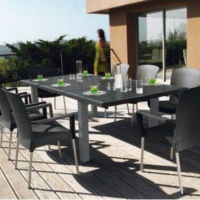 Salon de jardin résine 8 couverts grosfillex 24… - Achat ...