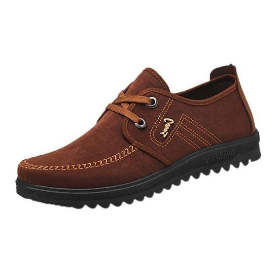 Hotskynie®Mode Femmes Bouche Peu Profonde Chaussures Professionnelles Stiletto Bout Pointu Haut Talon@Beige Marron Marron - Achat / Vente escarpin
