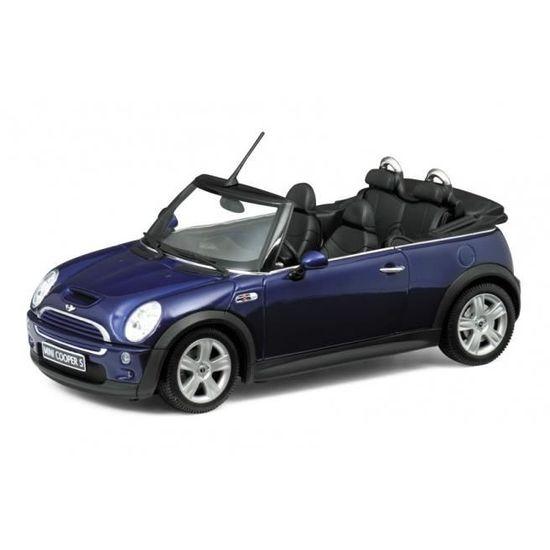 Miniatures Montées Mini Cooper S Cabriolet Bleu 124 Welly Achat