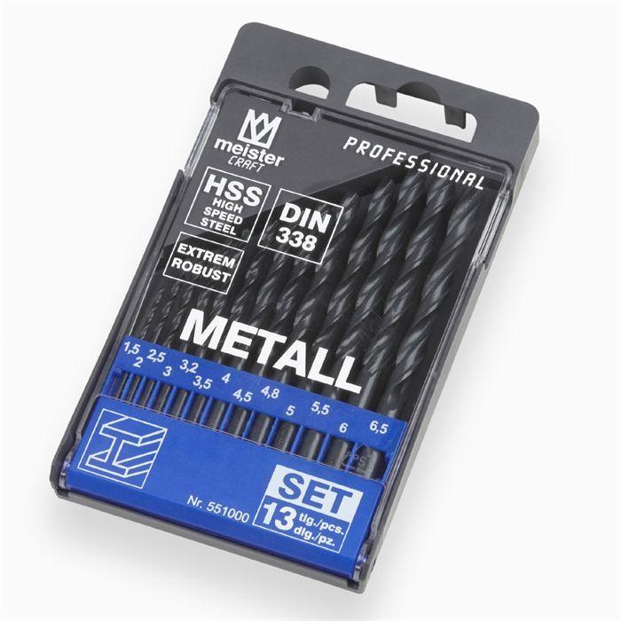 MEISTER Jeu de 13 forets à métal chrome vanadium