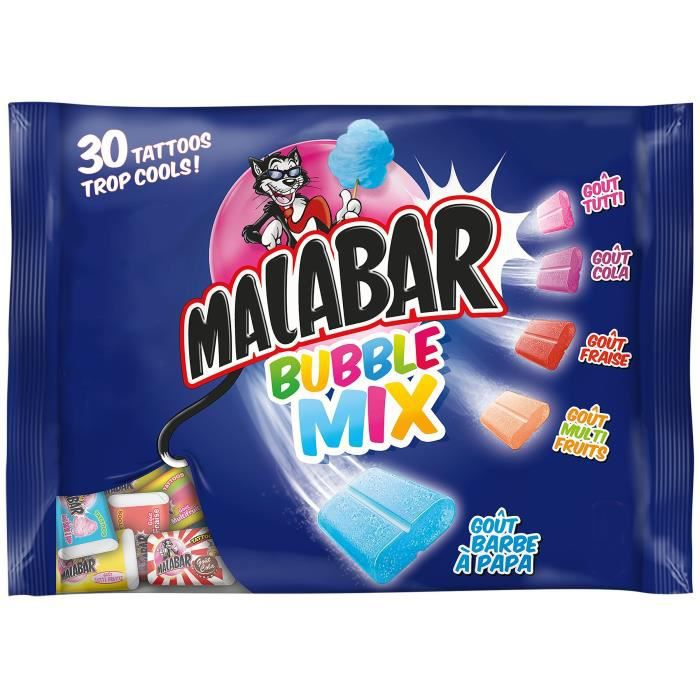 GUIMAUVE MALABAR Guimauves Bubble Mix, goût barbe à papa -