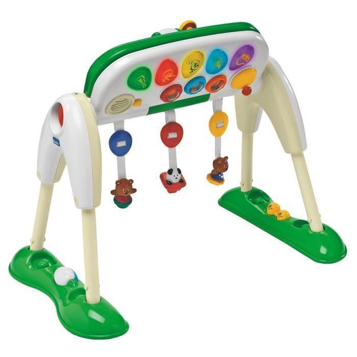 Chicco portic 39 table blanc et vert achat vente portique for Table 6 jeux en 1
