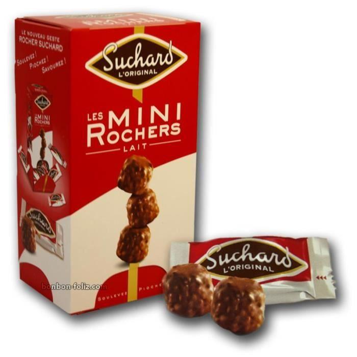 CARAMBAR Mini rochers chocolat au lait Suchard, éclats de noisettes fourrés au praliné noisettes - 192 g