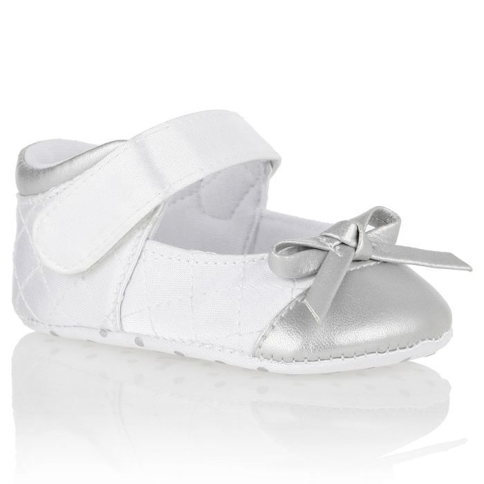 caddd2df92545 CHICCO Chaussures TEA TIME Fille Blanc et argent - Achat   Vente ...