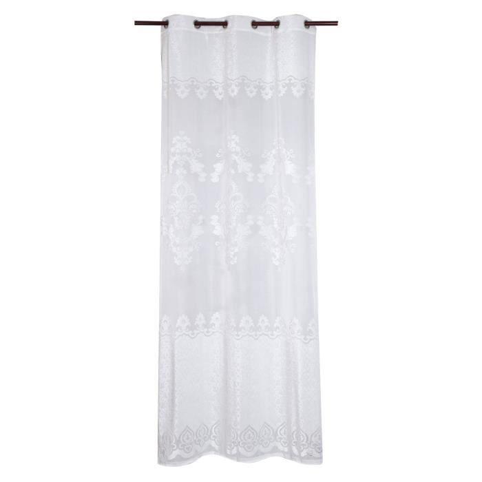 Matière : 100% polyester - Dimensions : 240x300 cm - Coloris : blancVOILE - VOILAGE