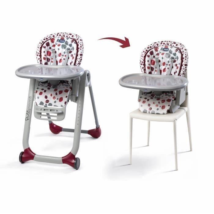 CHICCO Chaise haute ajustable 5 en 1 POLLY PROGRES5 Cherry