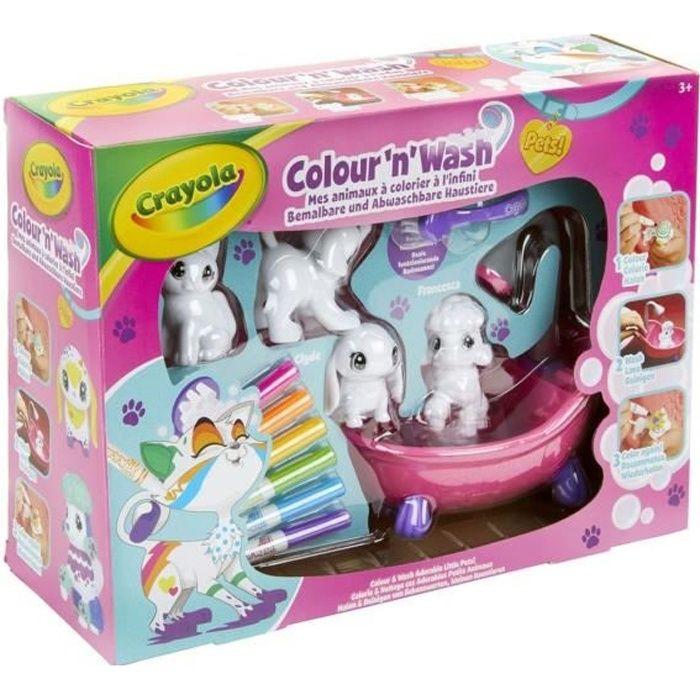 CRAYOLA Color'N'Wash pets - Mes Animaux à Colorier - Coffret