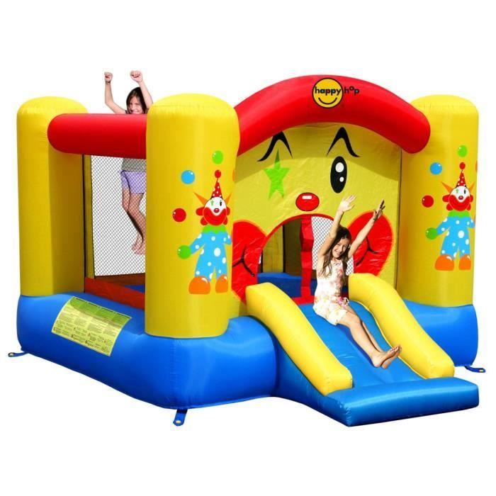 HAPPY HOP Château 280 x 225 x 175 cm - Aire de jeux gonflable Clown
