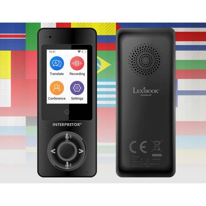 LEXIBOOK - Interpretor® - Traducteur vocal basé sur l'intelligence artificielle (45 langues)