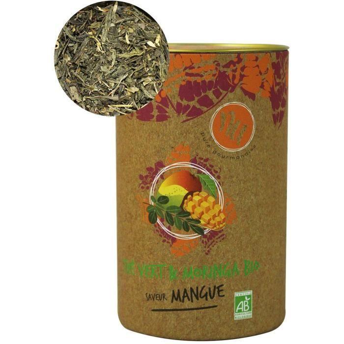 NU Thé Vert & Moringa Bio Saveur Mangue 90g