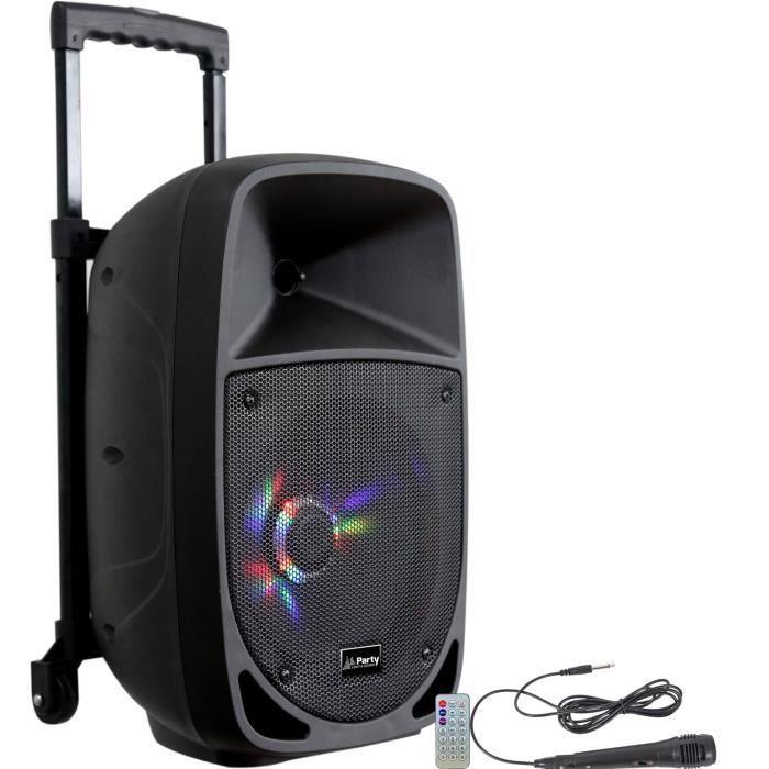 PARTY LIGHT & SOUND PARTY-8LED Enceinte portable 8''/20cm - 300W avec USB/FM/Micro/Bluetooth