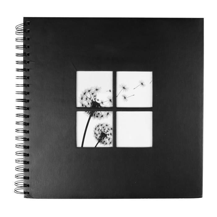 OSTARIA Album photos carré - Motifs Plumetis - 400 Vues - Noir