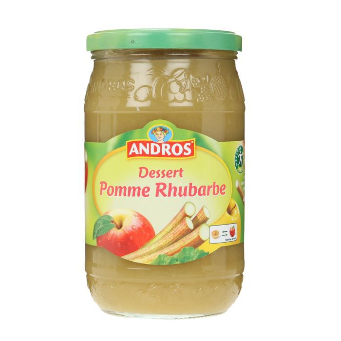 andros compote pomme rhubarbe bocal 750g achat vente. Black Bedroom Furniture Sets. Home Design Ideas
