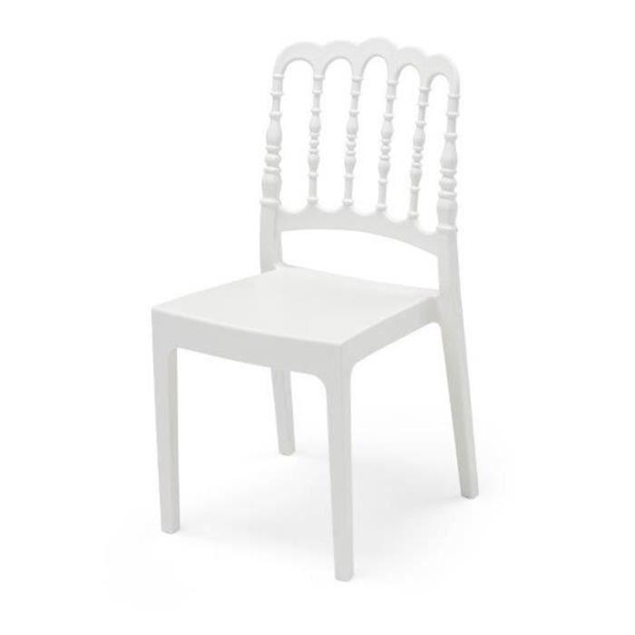 Chaise De Jardin Napoleon Blanc