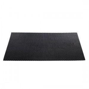 Set de table noir design tress asa set de 2 achat - Set de table tresse ...