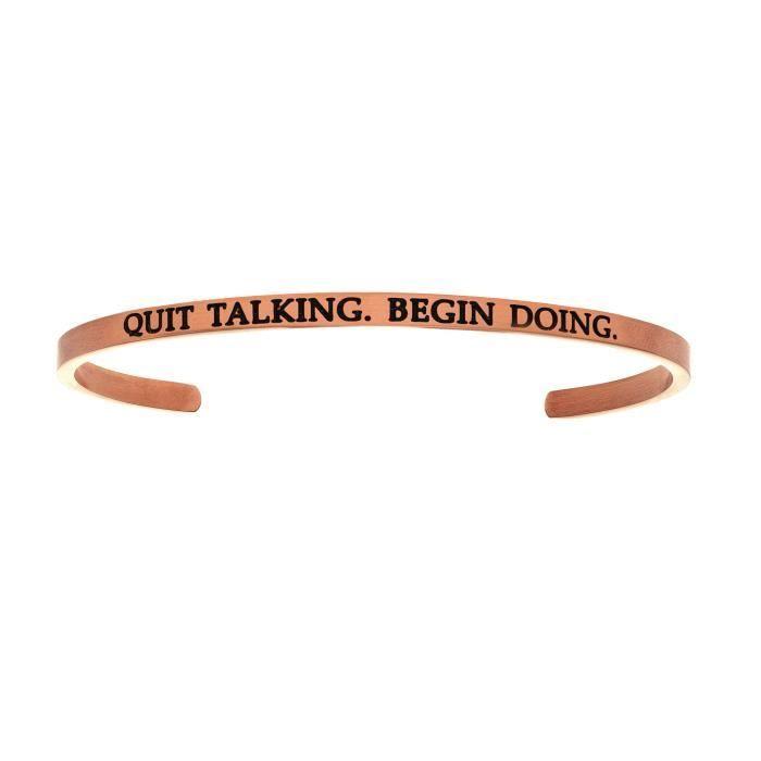 Intuitions en acier inoxydable QUITTER TALKING.BEGIN FAIRE. Bracelet avec bracelet à diamants et diamants
