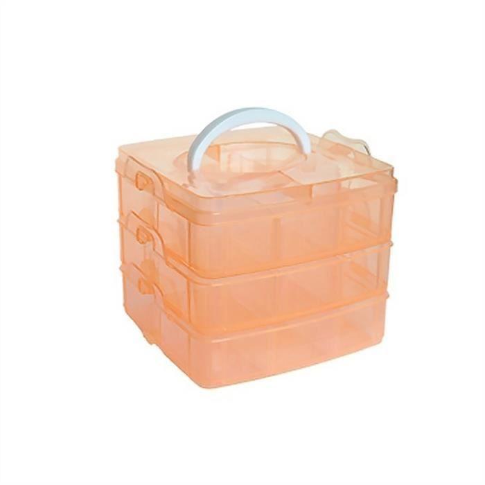Boîte à 3 couches, orange transparent