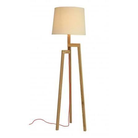 lampadaire design tr pied en bois et abat jour achat vente lampadaire design tr pied en. Black Bedroom Furniture Sets. Home Design Ideas