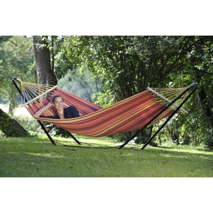 amazonas hamac elltex et support acier beach set achat vente hamac hamac et support beach. Black Bedroom Furniture Sets. Home Design Ideas