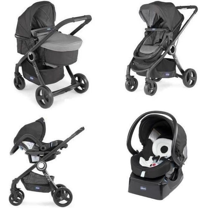 c870be7978eaa CHICCO Poussette Combinée Trio Pack URBAN PLUS - Anthracite ...