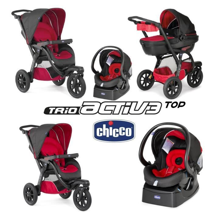 poussette bebe 3 roues chicco