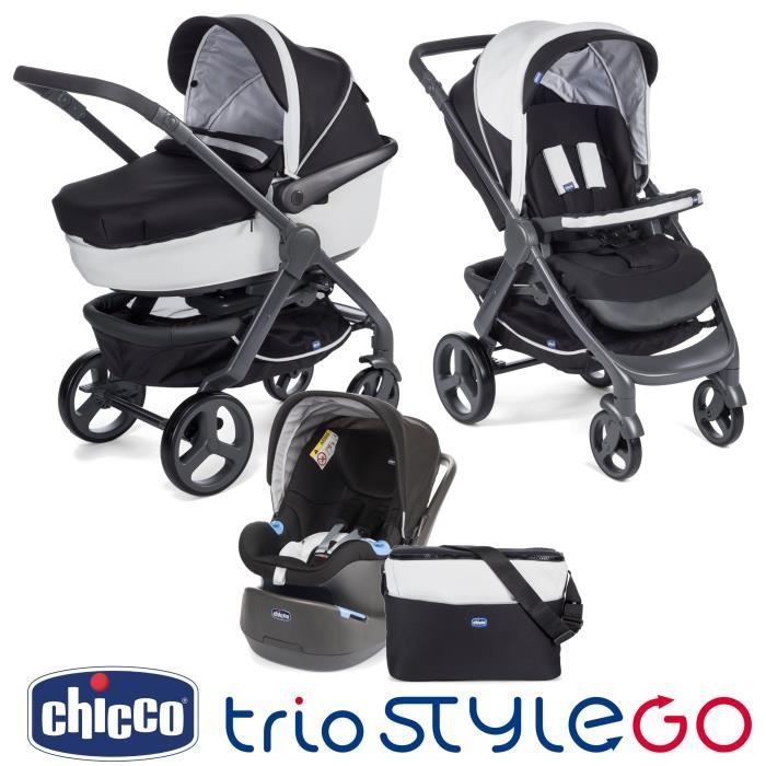 poussette trio stylego chicco