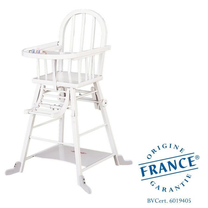COMBELLE Chaise haute Transformable Blanc - Achat / Vente chaise ...