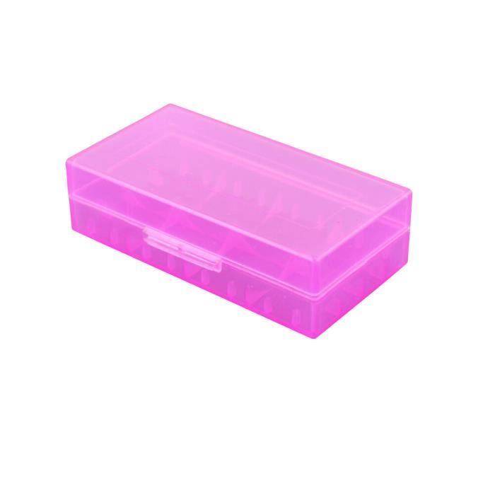 Boîtier en plastique coloré dur pour support de batterie 18650/16340 / CR123A Boîte de rangement