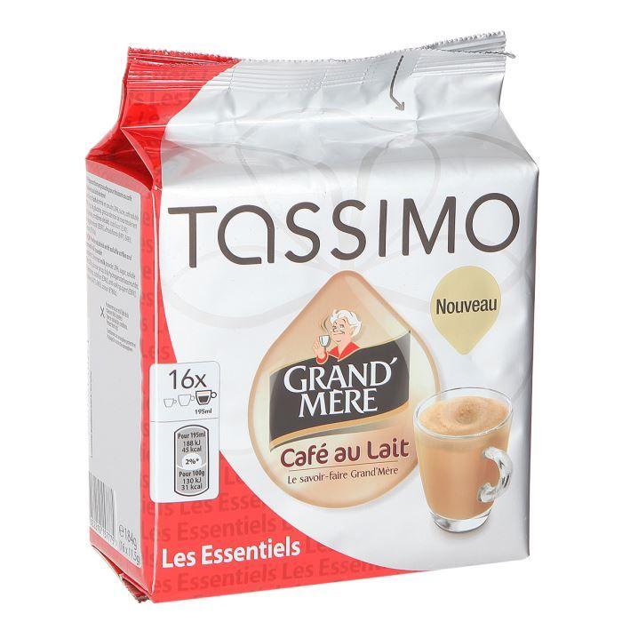 CAFÉ - CHICORÉE TASSIMO Café au Lait grand-mère - 16 capsules - 18