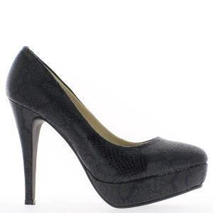 acheter populaire 35442 38840 Escarpins noirs plateforme à tal...