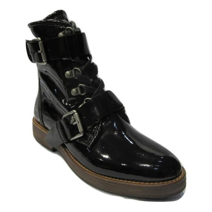 Bottine/Boots à lacets en cuir vernisMJUS