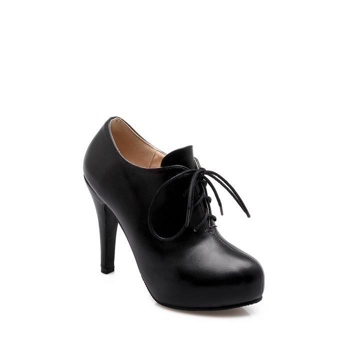 Escarpin Talons hauts pompes talon mince bout rond lacer Chaussures femme 8941406
