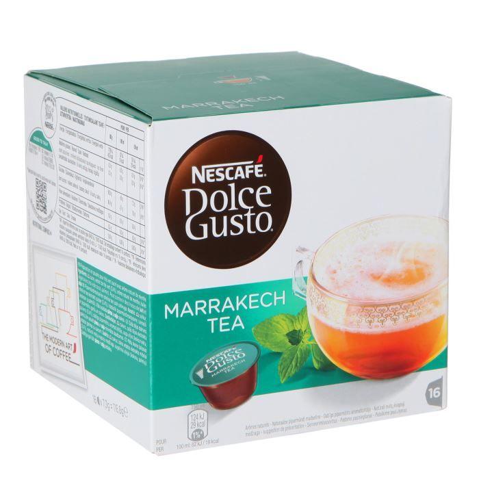 CAFÉ - CHICORÉE NESCAFE Dolce Gusto Marrakech Tea - 16 Capsules -