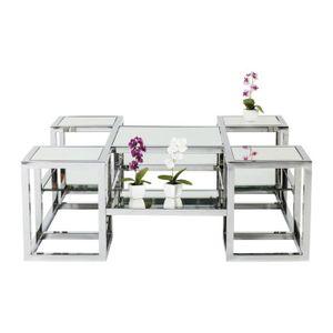 Table basse miroir achat vente table basse miroir pas for Miroir 100x100