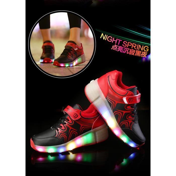 2016 nouvelles couleurs clignotantes chaussures lacets gar ons et les filles LED Light Emitting chaussures poulie baskets