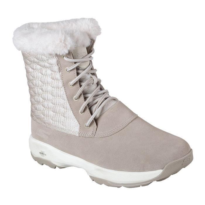 Skechers Gowalk extérieur Wintry Femmes lacées Bottes mi-mollet K1ODG Taille-38 1-2