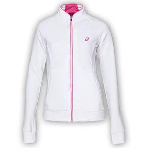 VESTE SPORT DE COMBAT ASICS Veste Zippée W S Racket - Femme - Blanc ... 0fa5f3693957