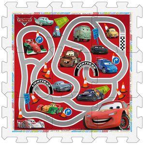 CARS Tapis Puzzle en Mousse avec Sacoche, 9 pi?ces