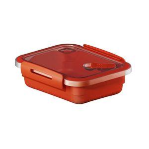 SUNDIS Boîte de conservation pour micro-onde avec valve Memory 1281001 0,4 L 15x12x4,7 cm rouge