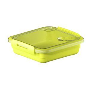 SUNDIS Boîte de conservation pour micro-onde avec valve Memory 1284001 0,56 L 16x15x4,7 cm vert