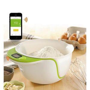 BCC001 Balance de cuisine avec connexion Bluetooth ? Blanc/Vert