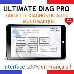 Valise diagnostic auto multimarque compl?te ULTIMATE DIAG PRO - Tablette, interface diagnostique OBD et logiciel ULTIMATE DIAG ONE