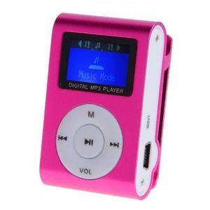 LECTEUR MP3 ANTCOOL(R) Mini lecteur MP3 casque rose avec écran