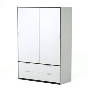 ARMOIRE DE CHAMBRE CAPRI Armoire de chambre style contemporain blanc