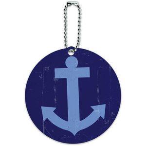 BRACELET DE MONTRE Ancre pour bateaux Artsy ronde ID bagages Carte de
