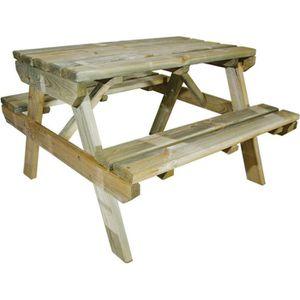 TABLE DE CAMPING Table pique-nique en bois pour enfant modèle Ch…