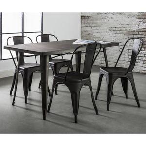 TABLE DE CUISINE Table Manger Design Industriel BIRMINGHAM En Aci
